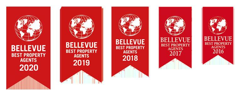 Bllevue Best Property Agents Auszeichnungen - Logos